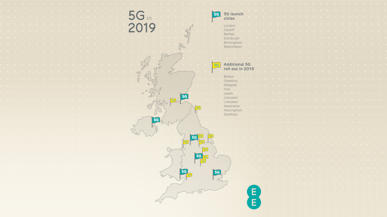 EE 5G 2019 Roll-out Map